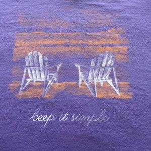NWT Life is Good - Keep it Simple Ladies T- Shirt